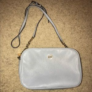 Baby blue MK crossbody/shoulder purse